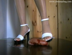 Cock trample in high heels until blood